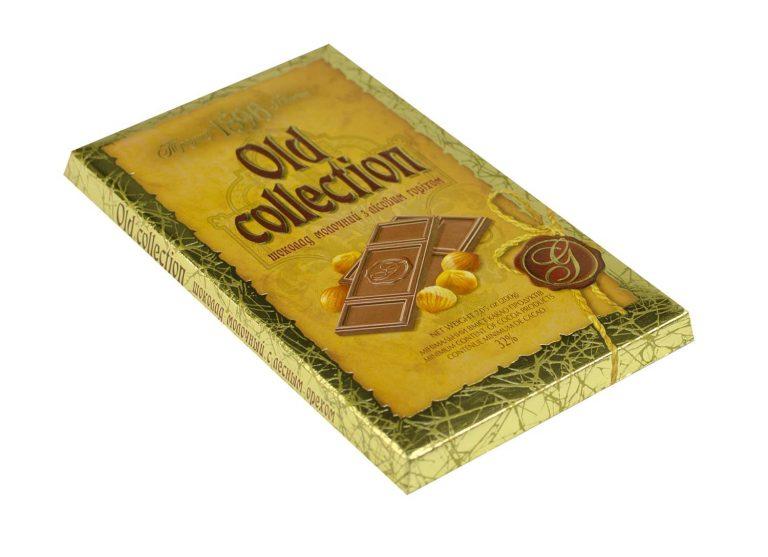 ciocolata Old Collection cu lapte si alune